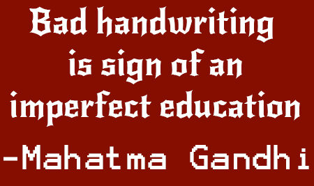 bad handwriting is sign of an imperfect education