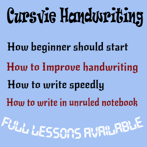 Improve Cursive Handwriting