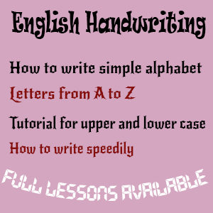 English Handwriting Tutorial