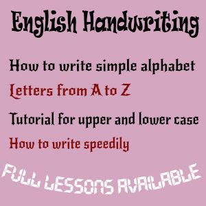 English Handwriting Tutorial
