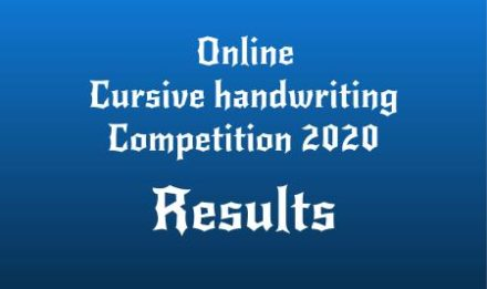 Online Cursive handwriting Competition 2020 Result